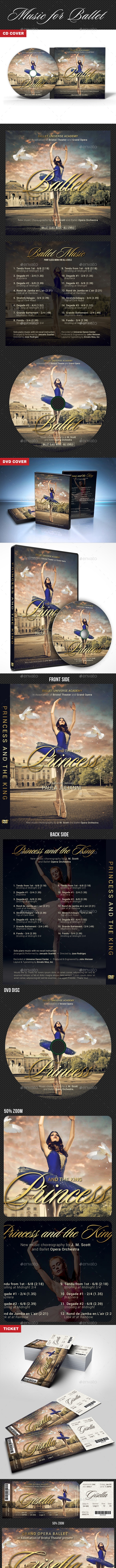 Ballet CD DVD Ticket Bundle - CD & DVD Artwork Print Templates
