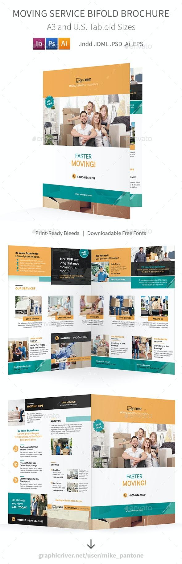 Moving Service Bifold / Halffold Brochure 2 - Informational Brochures