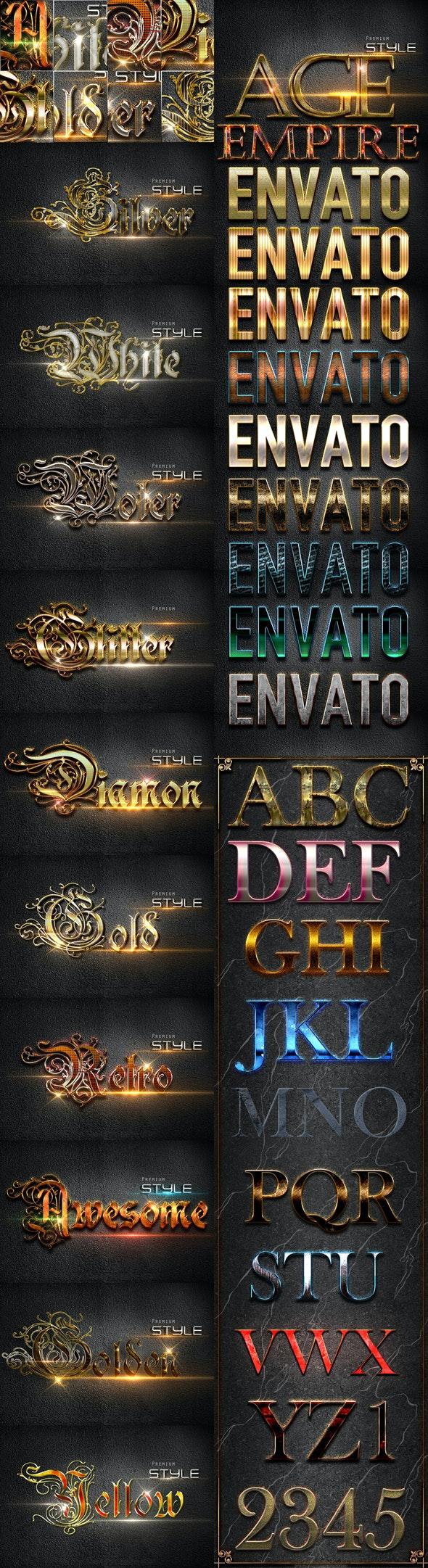 30 Bundle 3D Text Styles D25-D27 - Styles Photoshop
