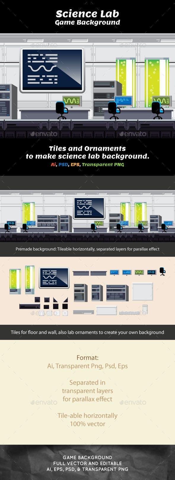 Indoor Game Backround - Science Laboratory