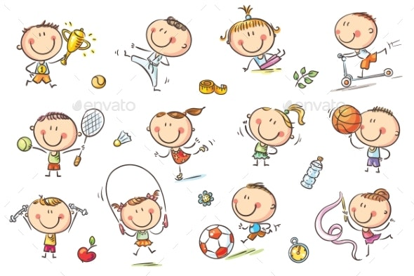 Kids and Sports - Sports/Activity Conceptual