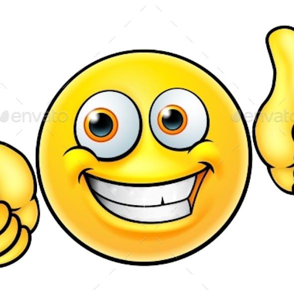 Happy Thumbs Up Emoji