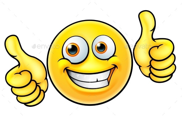 Happy Thumbs Up Emoji - Miscellaneous Characters