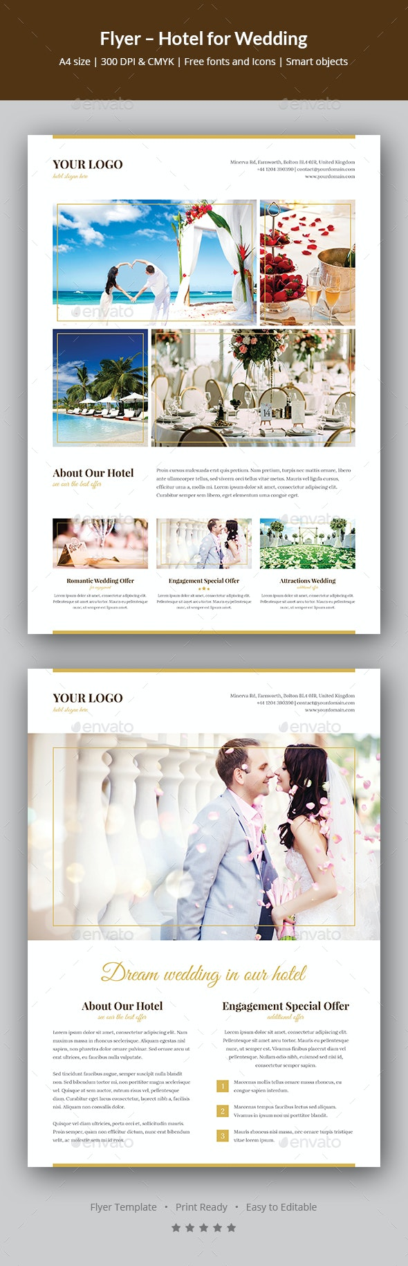 Flyer – Hotel for Wedding - Events Flyers