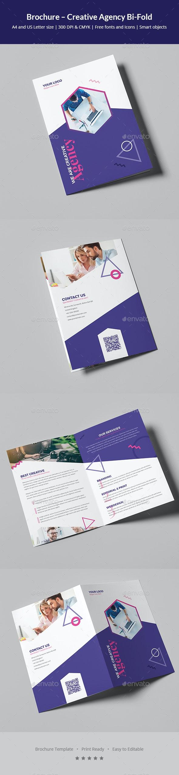 Brochure – Creative Agency Bi-Fold - Corporate Brochures