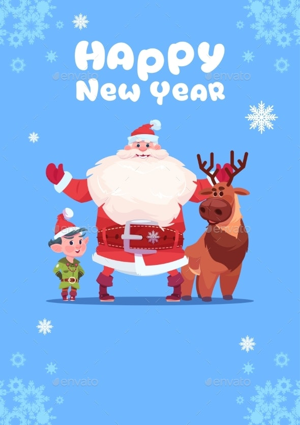 Santa Claus With Elves - Christmas Seasons/Holidays