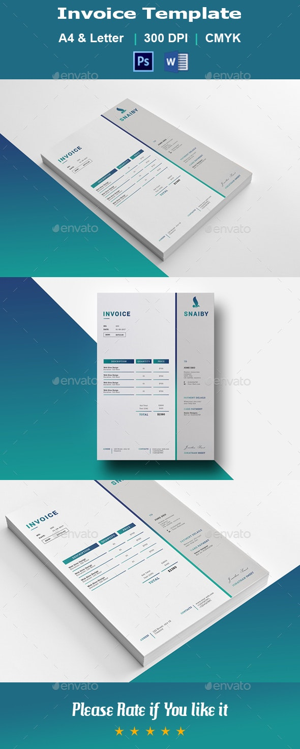 Invoice V01 - Proposals & Invoices Stationery