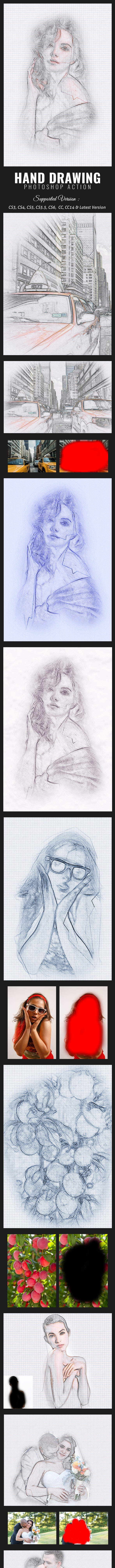 Hand Drawing Action - Photo Effects Actions