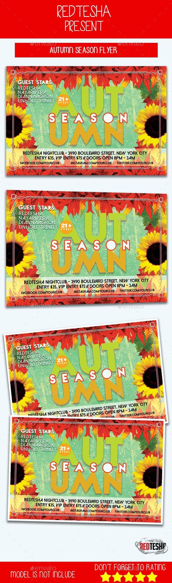 Autumn Season Flyer - Events Flyers
