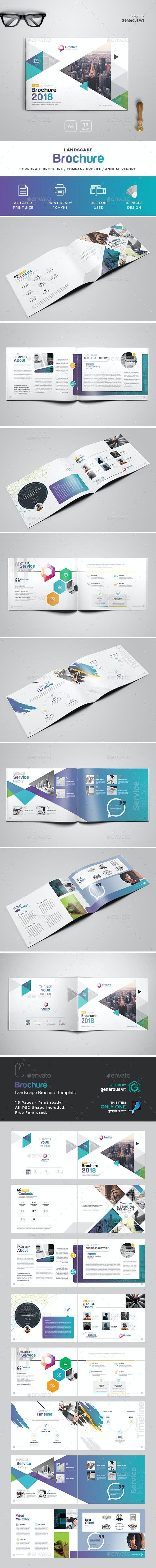 2018 Landscape Brochure Template - Brochures Print Templates