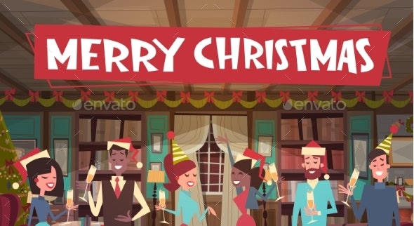People Celebrate Merry Christmas - Christmas Seasons/Holidays
