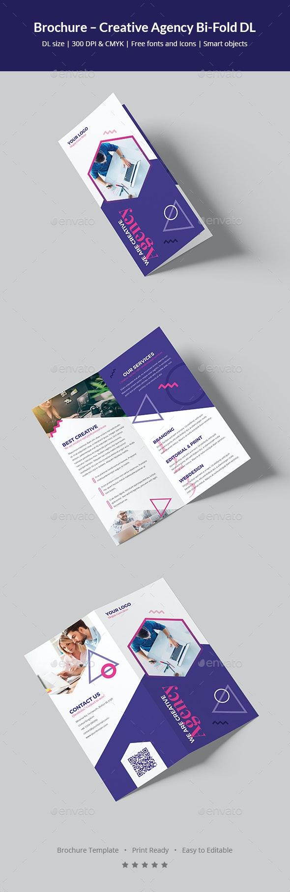 Brochure – Creative Agency Bi-Fold DL - Corporate Brochures