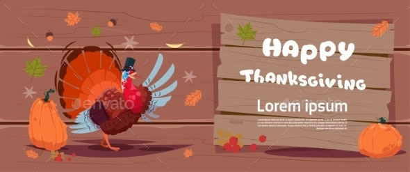 Happy Thanksgiving Day Autumn Traditional Harvest - Backgrounds Decorative