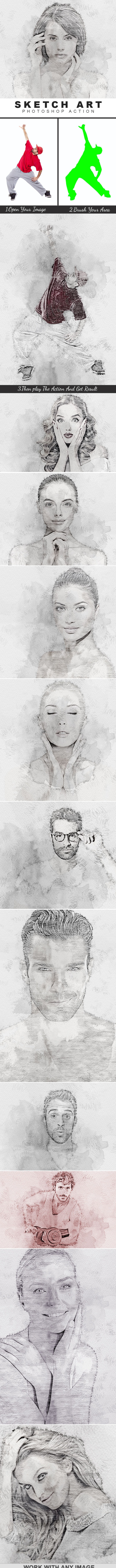 Sketch Art Photoshop Action - Photo Effects Actions