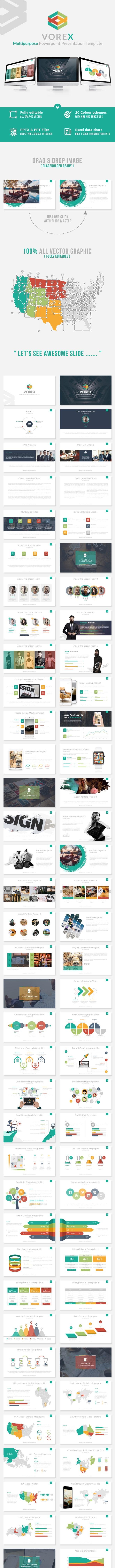 Vorex - Multipurpose Powerpoint Presentation Template - Business PowerPoint Templates