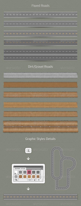 11 Road Stroke Styles - Man-made Objects Objects