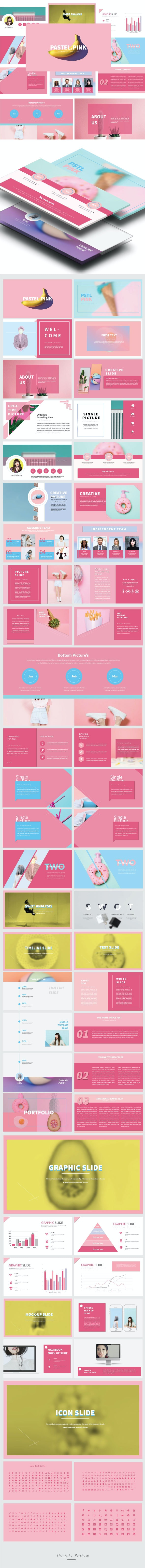 Pstl Pink - Creative Google Slide Presentation Templates - Google Slides Presentation Templates