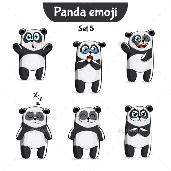 Panda Characters Set 5 - Animals Characters
