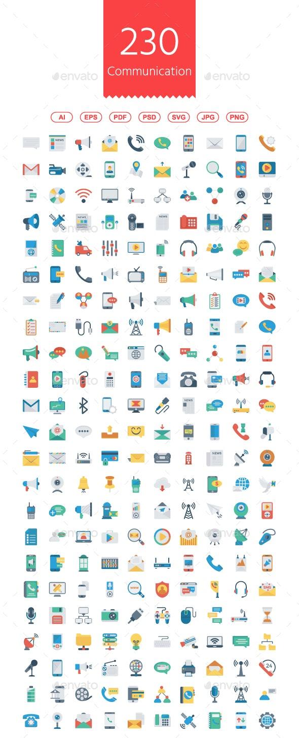 Communication Flat icons - Business Icons