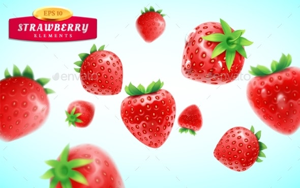 Strawberry Set - Food Objects