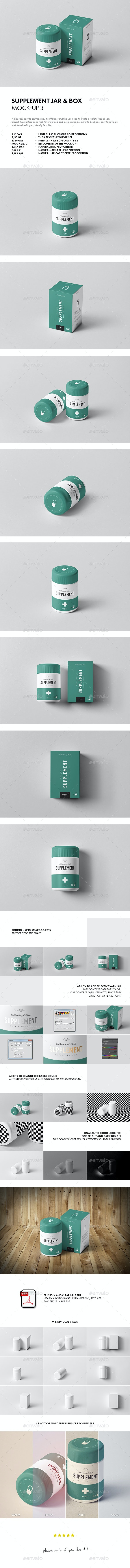Supplement Jar & Box Mock-Up 3 - Miscellaneous Packaging