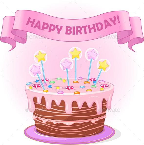 Birthday Cake - Food Objects