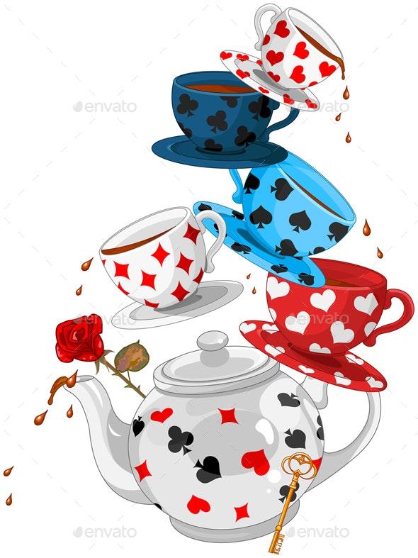 Wonder Tea Party Pyramid - Food Objects