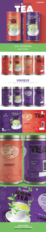 Rose & Lemon Tea Packaging