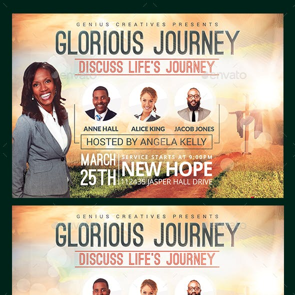 Glorious Journey Church Flyer Template