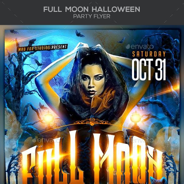 Full Moon Halloween Party Flyer