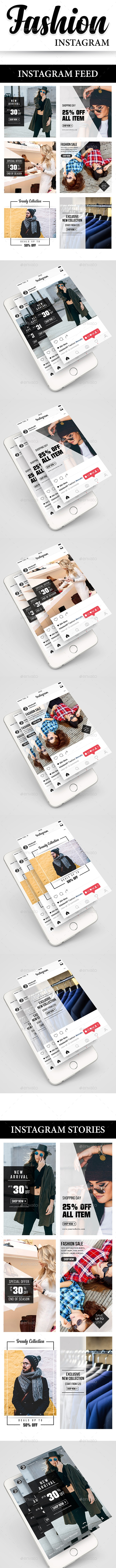 Fashion Instagram (Feed + Stories) - Social Media Web Elements