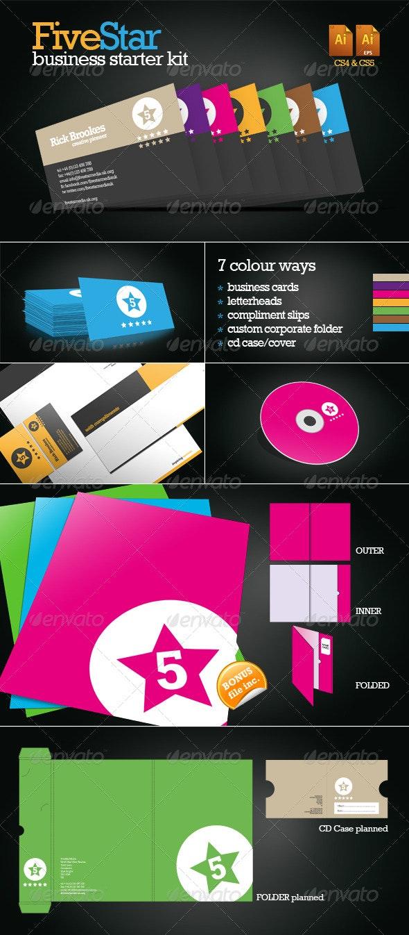 FiveStar Business Starter Pack - Stationery Print Templates