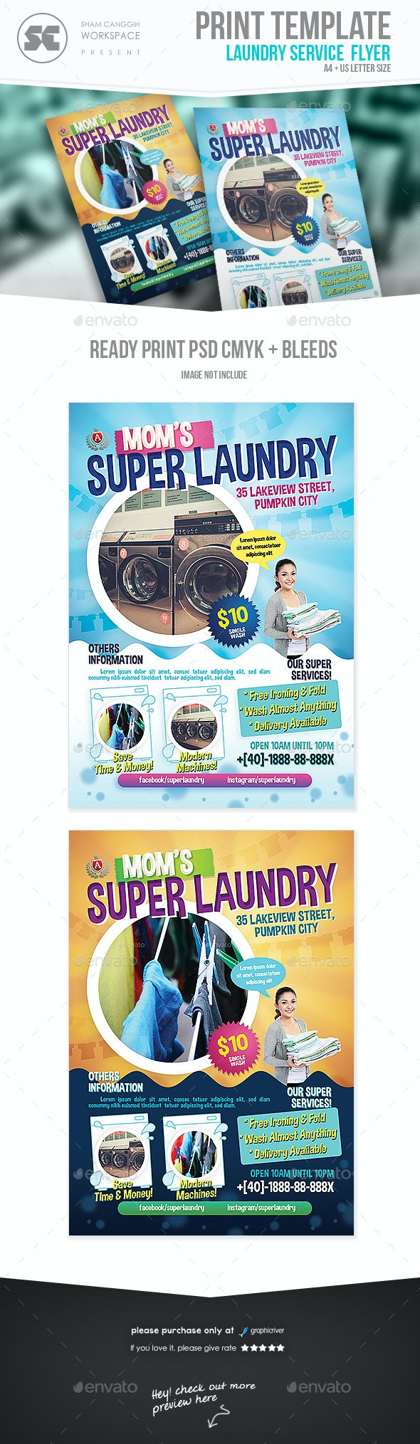 Washing / Laundry Services Flyer - Miscellaneous Events
