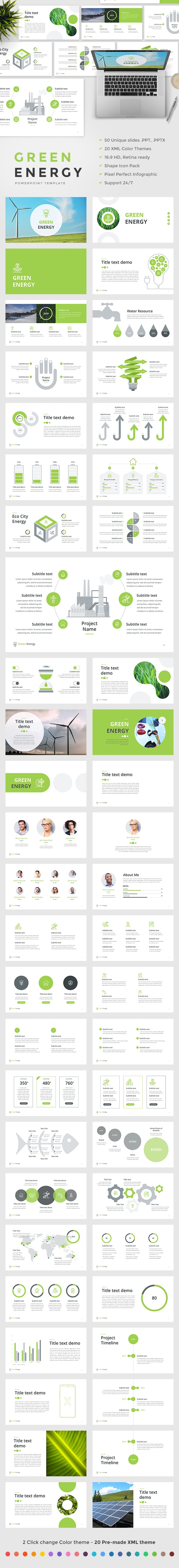 Green Energy - PowerPoint Template - Nature PowerPoint Templates