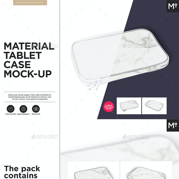 Tablet Material Case Cover Mock-up