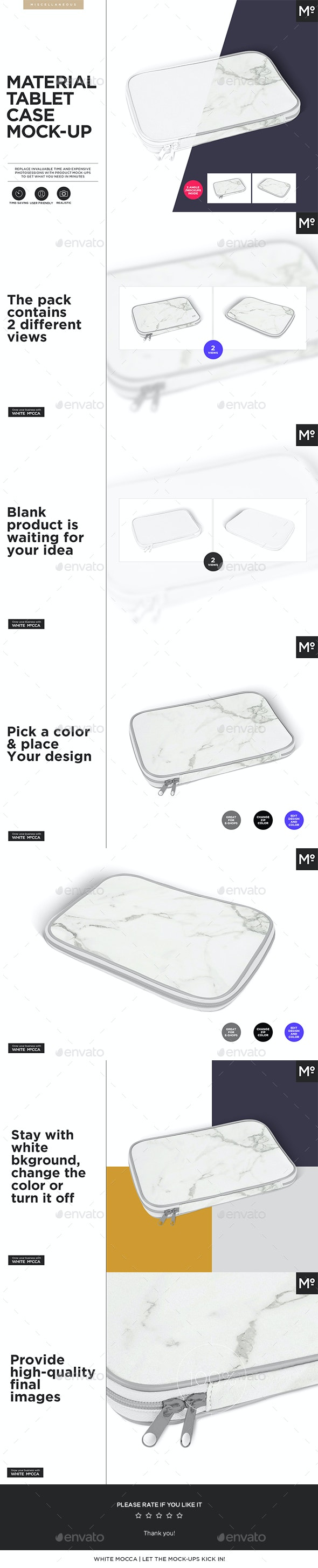 Tablet Material Case Cover Mock-up - Miscellaneous Packaging