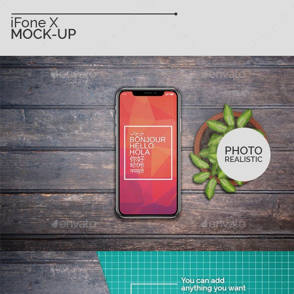 iFone X Mock-Ups