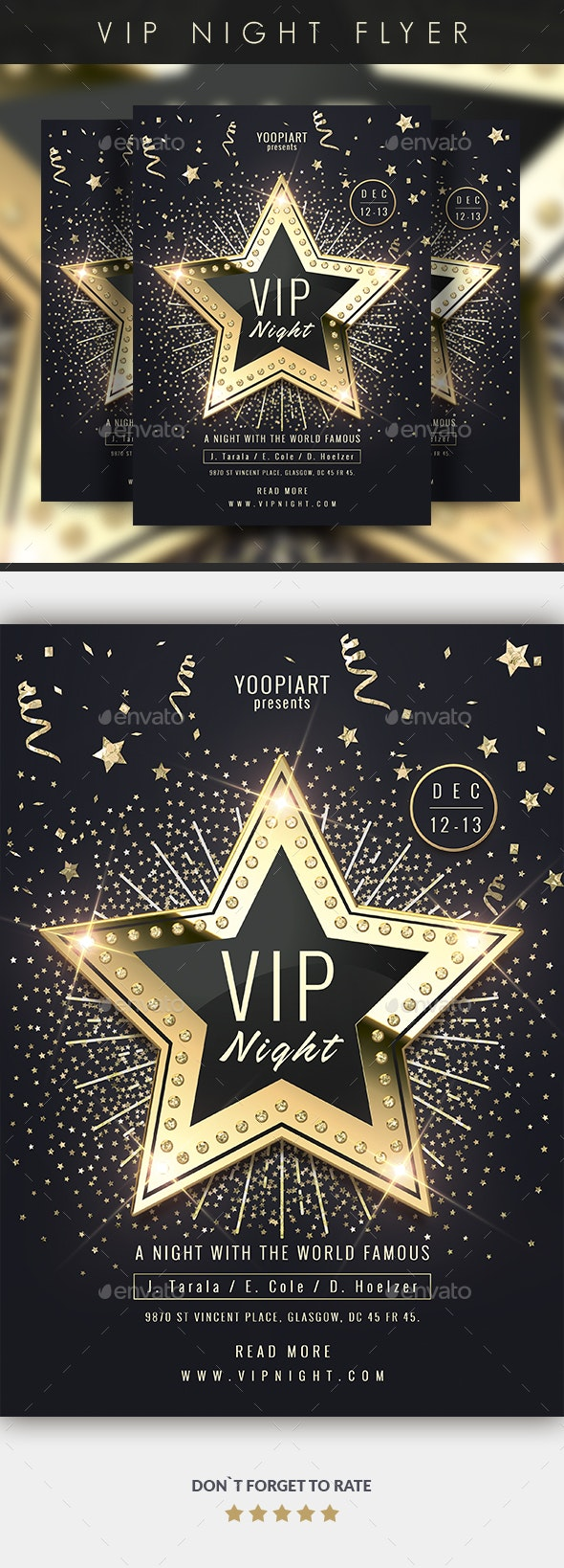 Vip Night Flyer - Events Flyers