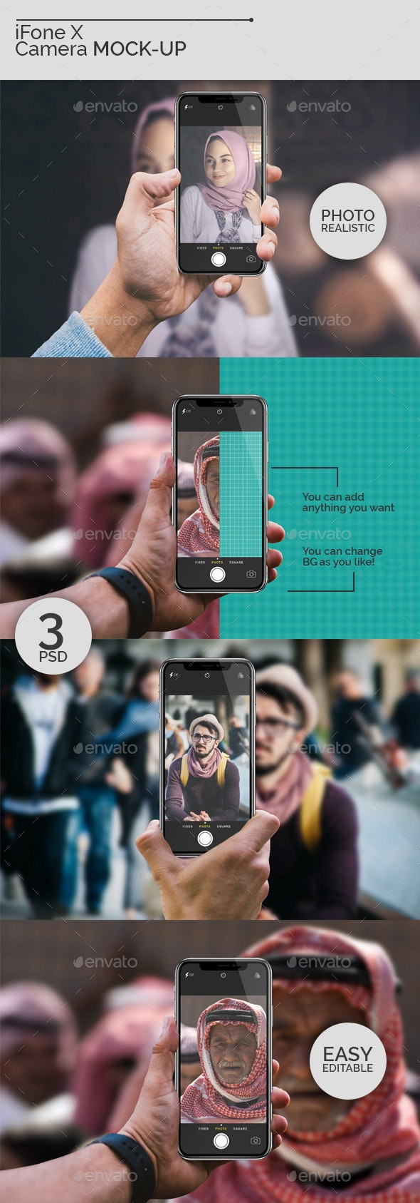 iFone X Camera Mock-Ups - Mobile Displays