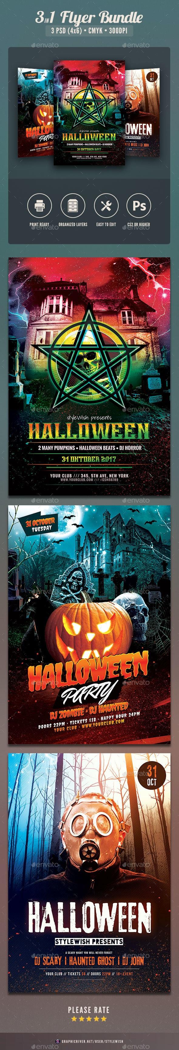 Halloween Flyer Bundle Vol.04 - Clubs & Parties Events