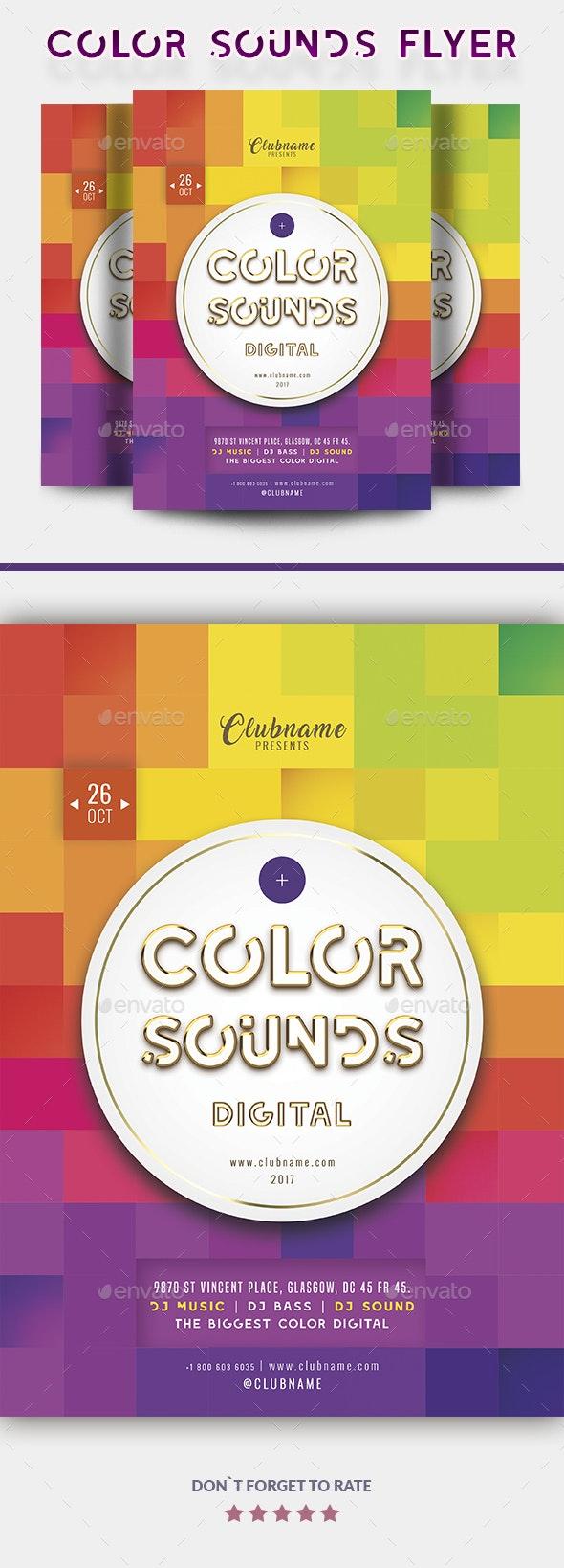Color Sounds Flyer - Events Flyers