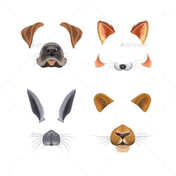 Animal Face Video Chat or Selfie Photo Filter