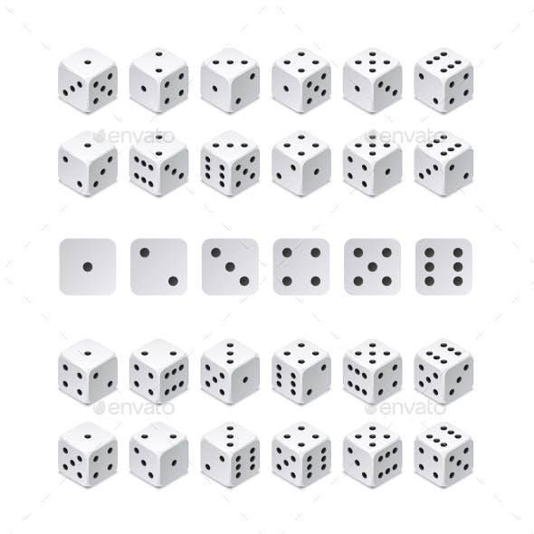 Isometric 3d Dice Combination