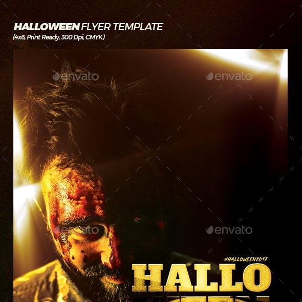Thriller Halloween Flyer Template
