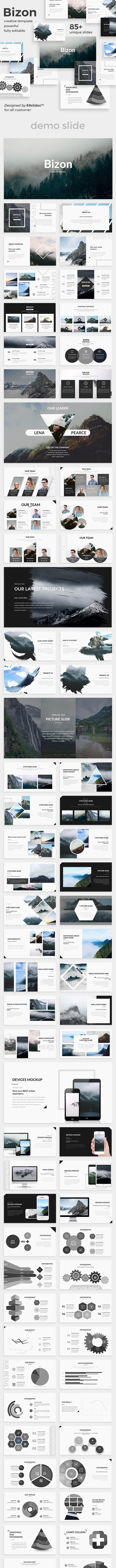 Bizon Creative Powerpoint Template - Creative PowerPoint Templates