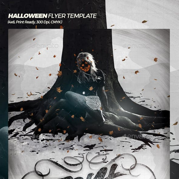Trick or Threat Halloween Poster / Flyer Template