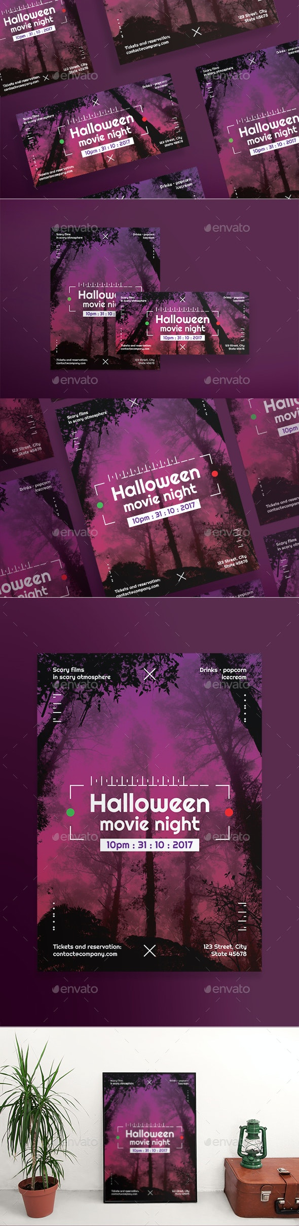 Halloween Movie Flyers - Holidays Events