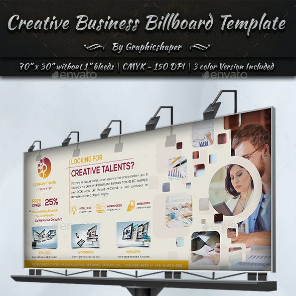 Creative Business Billboard Template