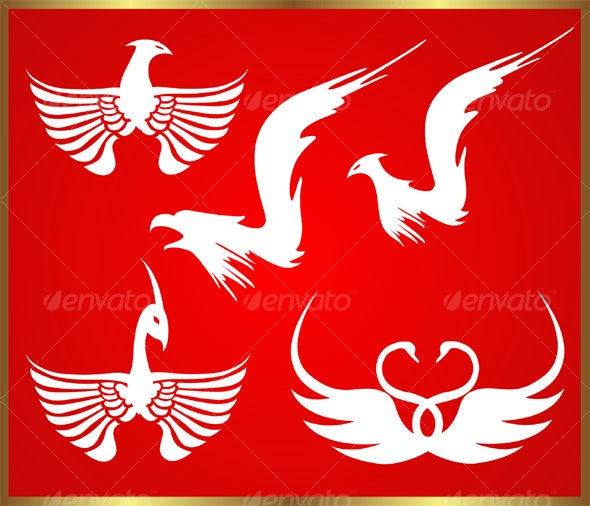 Bird symbols - Decorative Symbols Decorative