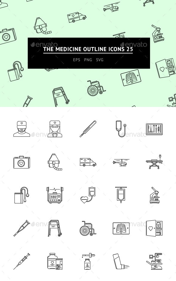 The Medicine Outline Icons 25 - Web Icons